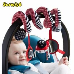 Surwish Słodkie Infant Babyplay Zabawki Dla Niemowląt Aktywny Spiral Bed & Wózek Zabawka Zestaw Wisi Dzwon Łóżeczko Grzechotka Z