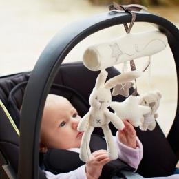 Twórczy Niemowlęta Cradle Rabbit niemowląt fotelik pluszowe zabawki Ręcznie Dzwon muzyki wiszące łóżko Wielofunkcyjne Zabawki Pl