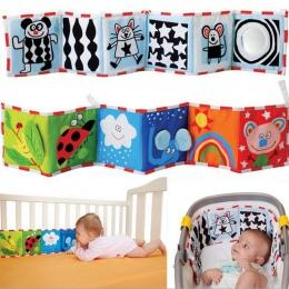 Zabawki dla niemowląt Szopka zderzak Dla Dzieci Cloth Book Niemowląt Grzechotki Wiedzy Około Multi-touch Kolorowe Zderzak Łóżko