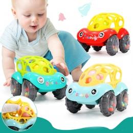 Dziecko Plastikowe nietoksyczny Kolorowe Zwierzęta Rąk Jingle Drżenie Dzwon Samochód Grzechotki Zabawki Muzyczne Handbell dla Dz