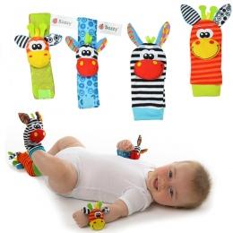 Sozzy 4 sztuk = 2 sztuk w pasie + 2 sztuk Niemowlę Dziecko Dzieci Skarpety skarpetki grzechotka zabawki Wrist Rattle and Foot Sk