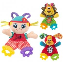 Newborn Baby Cute Zabawki Dla Dzieci Cartoon Zwierząt Bells Ręczne Grzechotki Zabawki Playmate Plush Doll Gryzak Zabawki dla Dzi