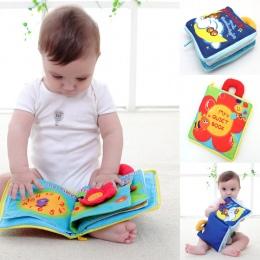 12 stron Miękką Szmatką Dziewczyny Boys Baby Wózek Rustle Dźwięku Książki Edukacyjne Dla Niemowląt Grzechotka Zabawki Dla Noworo