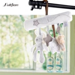 Fulljion Baby Grzechotka Zabawki Królik Muzyka Lalka Dzwon Łóżko Dla Wózek Niemowląt Wielofunkcyjne Ręcznie Dzwon Pluszowe Eduka