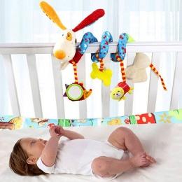 Szczęśliwy Małpa Dziecko Pluszowe Zwierząt Rattle Mobile, Niemowląt Wózek Bed Szopka Spirali Wiszące Zabawki Prezent dla Noworod