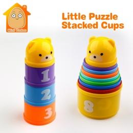 MiniTudou 8 sztuk Zabawki Edukacyjne Dla Dzieci 6 Miesięcy + Figury Listy Foldind Stos Kubek Wieża Dzieci Wczesne Intelligence