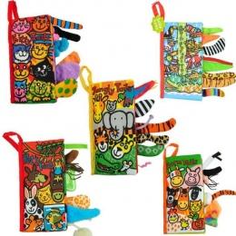 Zabawki dla niemowląt Dla Dzieci Niemowląt Wczesnego Rozwoju Książki Tkaniny Nauka Edukacja Rozkładanie Aktywności Książki Zwier