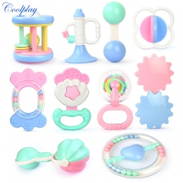 Zabawki dla niemowląt Ręka Trzymać Jingle Drżenie Dzwon Piękny Hand Shake Bell Pierścień Dziecko Grzechotki Zabawki Noworodka 0-
