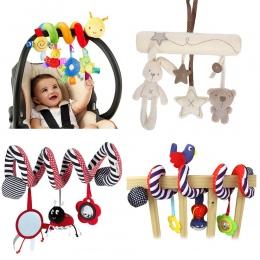 Miękkie Dziecięce Łóżeczko Łóżko Wózek Zabawki Spirali Dziecko Zabawki Dla Niemowląt Fotelik Samochodowy Edukacyjne Grzechotka D