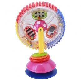 Zabawki dla dzieci trójkolorowy model Wiatrak Obraca Wózek Noria Jadalnia Krzesło z przyssawkami Zabawki Edukacyjne Dla Niemowlą