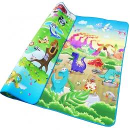 Dziecko Gra Mata 200*180*0.5 cm Indeksowania Mat Podwójna Powierzchni Dziecko Dywan dywan Zwierząt Car + Dinozaur rozwój Mata dl