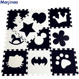 EVA dzieci miękkie rozwój indeksowania dywany, dziecko grać Blok Batman/list/Mickey maty z pianki Czarny Biały pad piętro do gry