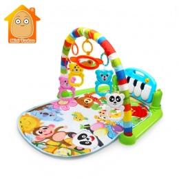 Mini Tudou Dziecko Gra Mata Dzieci Dywan Edukacyjne Puzzle Dywan Z Klawiatury Fortepianu I Cute Animal Playmat Baby Siłowni