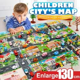 39 Sztuk City Map Interaktywne Zabawki Modelu Samochodu Indeksowania Mat Game Pad dla Dzieci Play House (28 Pc Znak Drogowy + 10