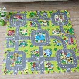 Nowość! 9 sztuk Dziecka pianki EVA puzzle grać mata podłogowa, drodze miasta Edukacji i dachówek i ruchu trasy ziemi pad (bez kr