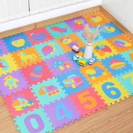 10 sztuk Edukacyjne Dla Dzieci Grać Maty z Pianki Eva Numer Zwierząt Blokady Puzzle Dywan Mat Rozwój Indeksowania Mat Dzieci Sił