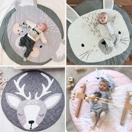 90 cm Okrągły Dziecko Playmat Miękkiej Bawełny Grać Maty Indeksowania Creeping Mata do Zabawy Dla Dzieci Dywaniki Podłogowe Dywa