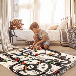 Północna Europejska Style Dzieci Samochodów Miasta Scena Taffic Autostrady Mapa Gra Mata Siłowni Zabawki Edukacyjne Dla Dzieci G