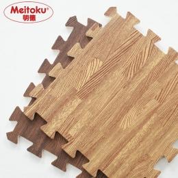 Meitoku Miękka Pianka eva puzzle mata indeksowania; 10 sztuk drewna blokada płytki podłogowe; wodoodporna dywan dla dzieci, salo