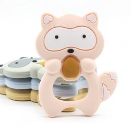 1 pc Silikon Gryzaki zabawki Szop Dziecko Pierścień Gryzak Bpa Silikonu Chew Charms Dziecka Ząbkowanie Zęby Prezent Zabawki nowy