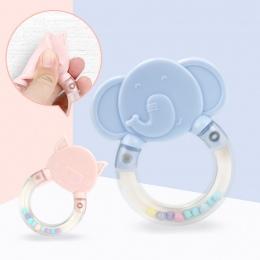 Gryzak dla niemowląt Zabawki Może Zagotować Noworodka Miękkie Bezpieczne Grzechotka Jingle Bell Niemowląt Ząbkowanie Pielęgnacji