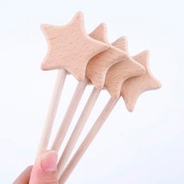 Zabawki dla niemowląt 2 sztuk Buk Drewniane Gwiazda Dziecka Ząbkowanie Montessori Zabawki Waldorf Zabawki Dla Dzieci Drewniane Z