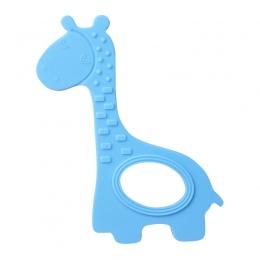 Niemowląt Żyrafa Kształt Gryzak Silikonowy Ząbkowanie Zabawki dla Dziecka Urodzenia-24 Miesięcy Kawaii Dzieci Miękkie Żucia Pier