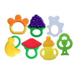 Dziecko Ząbkowanie Zabawki Miękkie Silikonowe Owocowe Gryzaki Dla Niemowląt Lodówka Można Myć W Zmywarce BPA Bezpłatny Dla Chłop