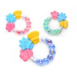 Silikonowe Gryzaki Dla Niemowląt Ząbkowanie Zabawki dla Noworodka z Koraliki 0-12 Miesięcy Żucia Pierścień Zabawki Opieka Pielęg