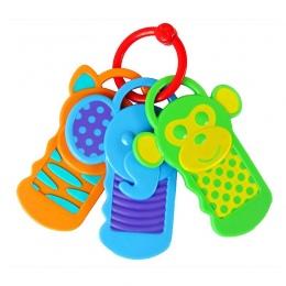 Gryzaki Zabawki Chwytając Noworodka Ręcznie Klucz Karty Zgryz Praktyka szablastozębne Zabawki Chew Niemowląt Smoczek Ustnej Szcz