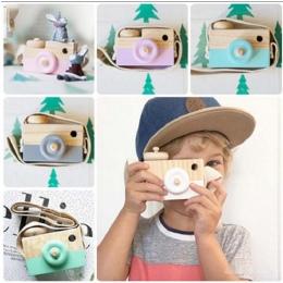 Śliczne Drewniane Toy Camera Dziecko Dzieci Wiszące Camera Fotografia Prop Dekoracji Zabawki Edukacyjne Dla Dzieci Urodziny Boże
