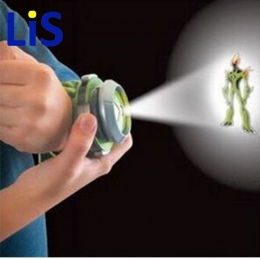 Lis 10 Styl Japonia Projektor Oglądać Gorące Sprzedaży Ben BAN DAI Prawdziwy Zabawki Dla Dzieci Dzieci Pokazu Slajdów Watchband