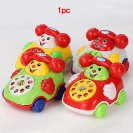 New Baby Przybycia Twarzy uśmiech Śliczny Telefon Zabawki Plastikowe Kolorowe Dzieci Nauka Zabawy Muzyki Telefon Zabawki Klasycz