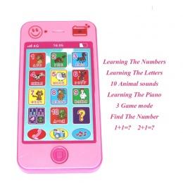 Dla dzieci Early Learning Szkolenia Maszyn zabawki telefon rosyjski język animal sounds dzieci Elektroniczne Wokal Edukacji Tele