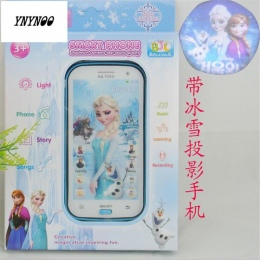 YNYNOO Królowa Śniegu Zabawki Rozmowy Telefonicznej Księżniczka Anna Elsa Telefon komórkowy Nauka i Edukacja Dla Dzieci telefon