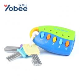 Yobee Muzyczne Puzzle Car Key Toy Kolorowe Flash Muzyka Inteligentny Zdalny Kilka Samochodów Głosy Udawaj Zagraj Zabawki Dla Dzi