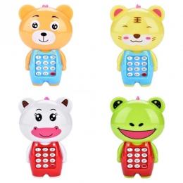 Dzieci śliczne Zwierząt telefony muzyczne Symulacja Telefon komórkowy Wiszące Łóżko Dla Dziecka zabawki dla dzieci telefon playm