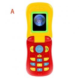 1 pc Elektroniczny Telefon dla Dziecka z Dźwiękiem Inteligentny Telefon Uczenia Edukacyjne Zabawki dla Dzieci Musical Maszyna Śm