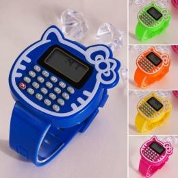 Wielofunkcyjne Zabawki Zegarek Dziecko Dzieci Zegarek Data Miesiąc Czasu Wyświetlacz Podwójny Kalkulator Elektryczne Figurki Zab