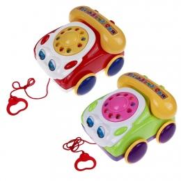 Telefon dla dzieci Zabawki Kolorowe Plastikowe dzieci Nauka Fun Telefon Muzyczny Zabawka Podstawy Gadać Telefon Klasyczny Ciągną