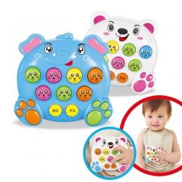 Mole Bitwa Gra Muzyka Notatki Hit Gry Zabawki Atak Poke Elektroniczny @ ZJF Plastikowe Zabawki Dla Dzieci Prezent Urodzinowy