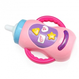 2018 Dziecko Dziecko Rozwoju Zabawki Gorący Bubel ToysBaby Gryzak Dla Niemowląt Karmienie Butelka Kształt Muzyka Zabawki
