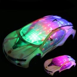 Nowy Fajny samochód Światła LED Light Muzyka Uniwersalna Elektryczna Flash 3D Sport dzieci Samochodzik Doskonałe Edukacyjne Zaba