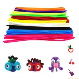 100 Sztuk Kolorowe Materiały Wełny Kij Dzieci DIY Craft Montessori Matematyka Rur Chenille Liczenie Kije Dziecko Puzzle Zabawki