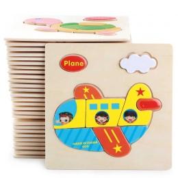 Sprzedaż Drewniane 3D Puzzle Układanki Zabawki Dla Dzieci Cartoon Zwierząt Pojazdu Drewna Puzzle Inteligencja Dzieci Dziecko Wcz