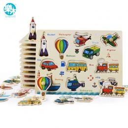 Dziecko Zabawki Montessori drewniane Puzzle/Ręcznie Grab Board Zestaw Edukacyjne Drewniane Zabawki Cartoon Pojazdu/Marine Zwierz