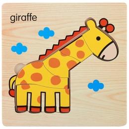 1 sztuk Cartoon Drewniane Zwierząt i Transportu 3d Puzzle Drewniane Zabawki Dla Inteligencja Dzieci Dziecko Wczesne Edukacyjne Z