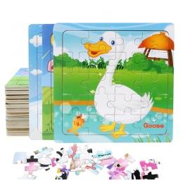 Gorąca Sprzedaż 20 kromka puzzle zwierzęta i dinozaury mały kawałek puzzle zabawki dla dzieci drewniane puzzle zabawki edukacyjn