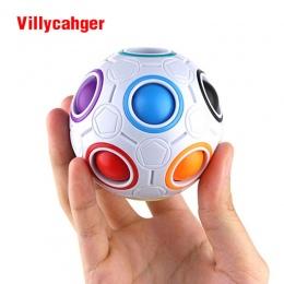 1 * zabawy Kreatywne Kuliste Prędkości Rainbow Puzzle Piłka Nożna Uczenia Edukacyjne Puzzle Zabawki Montessori Zabawki dla Dziec