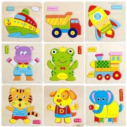 Trójwymiarowy Kolorowe Drewniane Puzzle Zabawki Edukacyjne Rozwojowa Zabawka Dla Dziecka Dziecko Wczesnego Szkolenia Gry